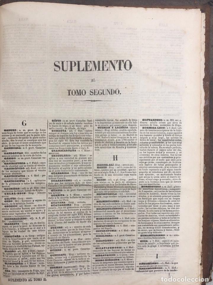 Diccionarios antiguos: DICCIONARIO ENCICLOPEDICO DE LA LENGUA ESPAÑOLA. POR NEMESIO FERNANDEZ. TOMOS I Y II. MADRID, 1864. - Foto 14 - 159950226