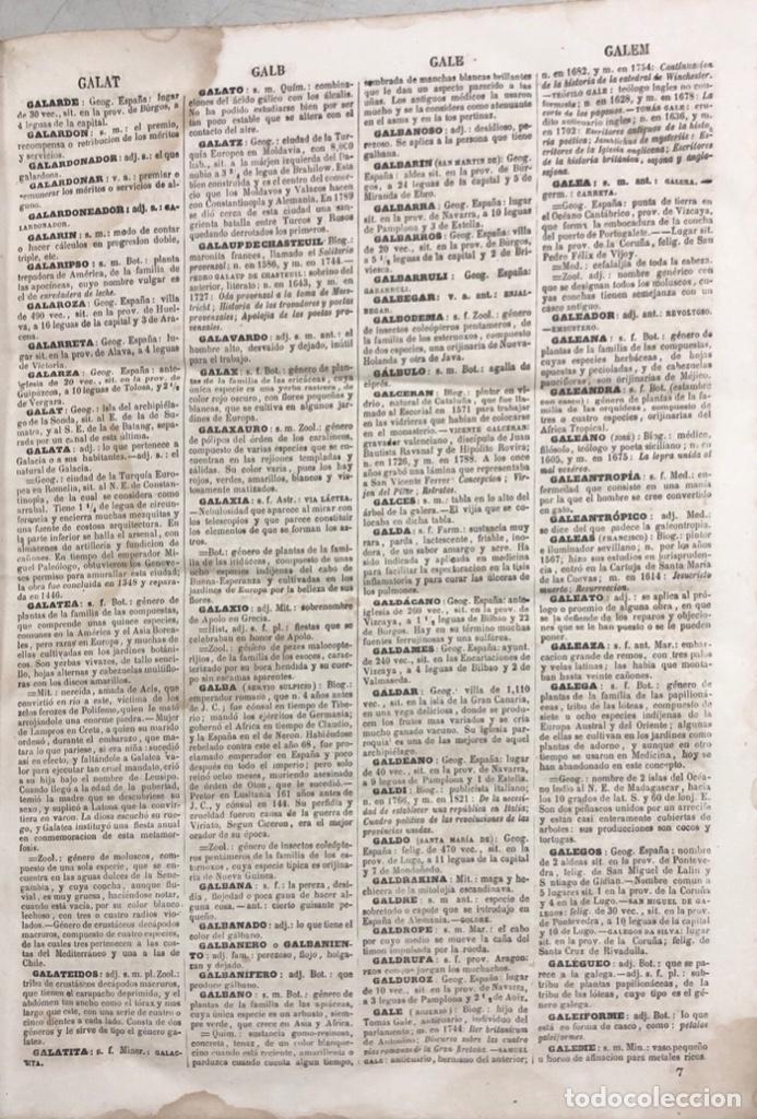 Diccionarios antiguos: DICCIONARIO ENCICLOPEDICO DE LA LENGUA ESPAÑOLA. POR NEMESIO FERNANDEZ. TOMOS I Y II. MADRID, 1864. - Foto 18 - 159950226