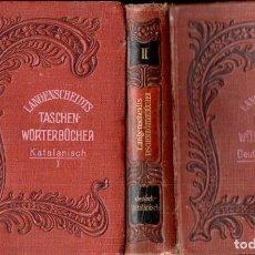 Diccionarios antiguos: LANGENSCHEIDT TASCHEN WÜRTERBÜCHER KATALANISCH-DEUTSCH-KATALANISCH (1916) 2 VOLUMS CATALÀ ALEMANY. Lote 160034542