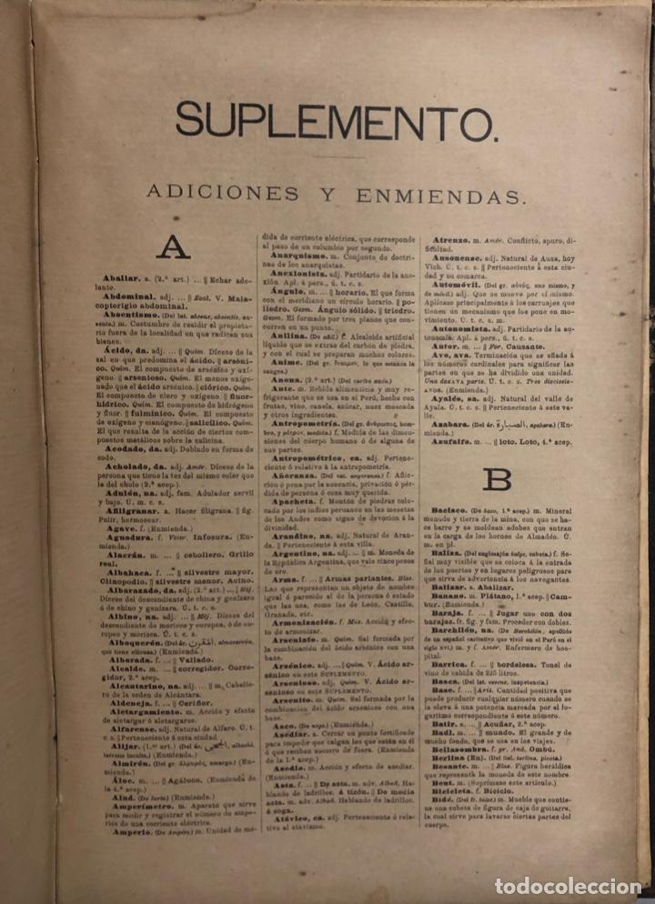 Diccionarios antiguos: DICCIONARIO DE LA LENGUA CASTELLANA. REAL ACADEMICA ESPAÑOLA. MADRID, 1899. PAGS 1043. - Foto 3 - 172635855