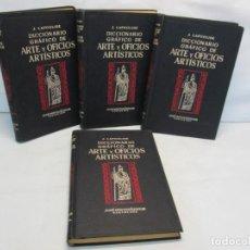 Diccionarios antiguos: J. LAPOULIDE. DICCIONARIO GRAFICO DE ARTE Y OFICIOS ARTISTICOS. 4 TOMOS COMPLETA 1932. Lote 161649714