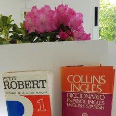 Diccionarios antiguos: LOTE DE 2 DICCIONARIOS: PETIT ROBERT (FRANCÉS), COLLINS INGLÉS . AMBOS TAPAS DURAS. Lote 163513982