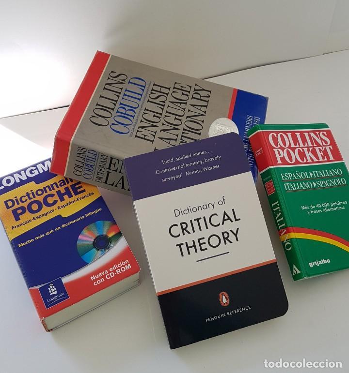 4 DICCIONARIOS DE INGLÉS (1 DE FRANCÉS): COLLINS, COLLINS POCKET, LONGMAN POCHE FR. Y CRITICAL THEOR (Libros Antiguos, Raros y Curiosos - Diccionarios)