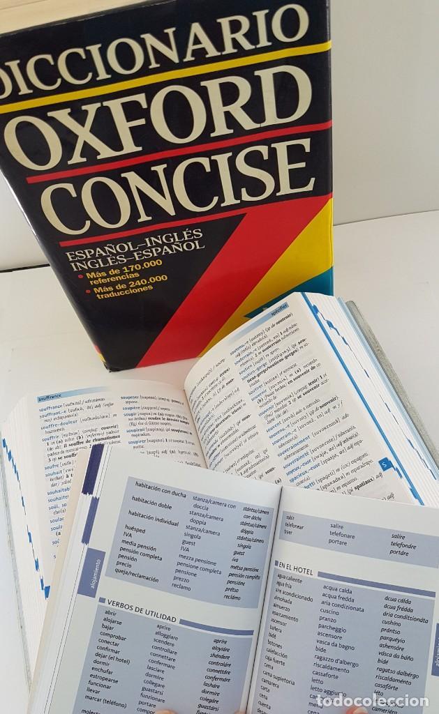 LOTE DE 3 DICCIONARIOS:OXFORD, LONGMAN POCHE E ITALIANO (Libros Antiguos, Raros y Curiosos - Diccionarios)