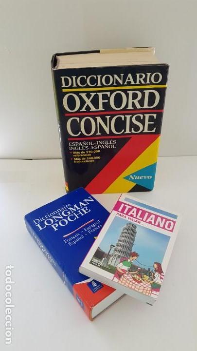 Diccionarios antiguos: LOTE DE 3 DICCIONARIOS:OXFORD, LONGMAN POCHE E ITALIANO - Foto 2 - 163515134