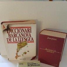 Diccionarios antiguos: LOTE DE 3 DICCIONARIS : BARCANOVA ILLUSTRAT,SINÒNIMS I ORTOGRÀFIC I DE PRONÚNCIA. Lote 163514274