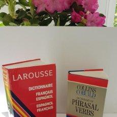 Diccionarios antiguos: 3 DICCIONARIOS DE FRANCÉS E INGLÉS: LAROUSSE, COLLINS Y COLLINS PHRASAL VERBS. Lote 163565526