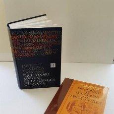 Diccionarios antiguos: 2 DICCIONARIS: LOCUCIONS I FRASES FETES. MANUAL DE CATALÀ. Lote 163567146