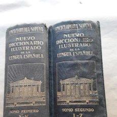 Diccionarios antiguos: NUEVO DICCIONARIO ILUSTRADO DE LA LENGUA ESPAÑOLA,ENCICLOPEDIA SOPENA,5°EDICIÓN,1933. Lote 166694770