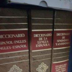 Diccionarios antiguos: TRES TOMOS DICCIONARIO INGLES ESPAÑOL , DE LA LENGUA ESPAÑOLA Y SINÓNIMOS Y ANTONIMOS OCEANO. Lote 168138376