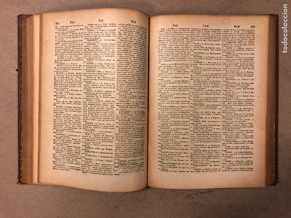 Diccionarios antiguos: NOVISIMO DICCIONARIO FRANCÉS - ESPAÑOL y ESPAÑOL- FRANCÉS. 2 TOMOS. NUÑEZ DE TABOADA. 1909. - Foto 7 - 168208244