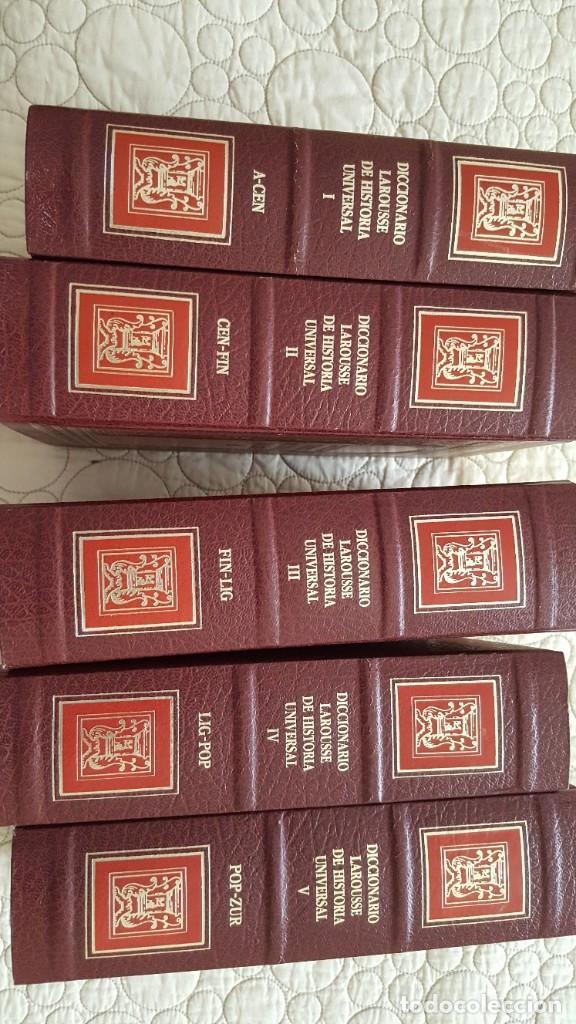 Diccionarios antiguos: DICCIONARIO LAROUSSE DE HISTORIA UNIVERSAL - Foto 2 - 169885164