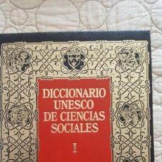 Diccionarios antiguos: DICCIONARIO UNESCO DE CIENCIAS SOCIALES. Lote 169885232