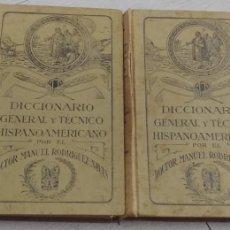Diccionarios antiguos: DICCIONARIO GENERAL Y TECNICO HISPANOAMERICANO DOCTOR MANUEL RODRIGUEZ NAVAS. Lote 170183634