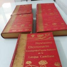 Diccionarios antiguos: NOVÍSIMO DICCIONARIO ENCICLOPÉDICO POPULAR ILUSTRADO DE LA LENGUA CASTELLANA. 1915. LOMO EN PIEL.. Lote 170191805