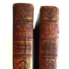 Diccionarios antiguos: DICCIONARIO NUEVO DE LAS LENGUAS ESPAÑOLA Y FRANCESA - FRANCISCO SOBRINO - DOS TOMOS - BRUSELAS 1751. Lote 171112563