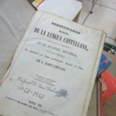 Diccionarios antiguos: LIBRO DICCIONARIO MANUAL DE LA LENGUA CASTELLANA 1863 L-16184-381. Lote 171613104