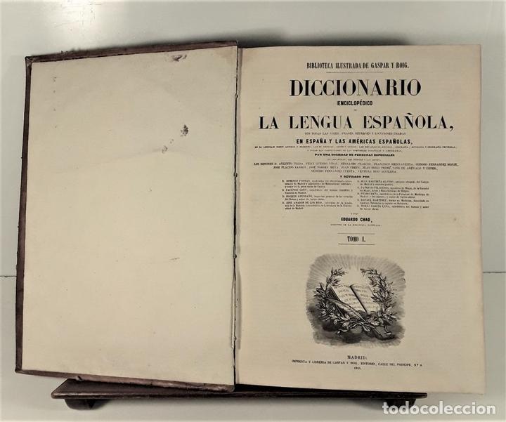 Diccionarios antiguos: DICCIONARIO ENCICLOPÉDICO DE LA LENGUA ESPAÑOLA. TOMO I. IMP. GASPAR Y ROIG. 1853. - Foto 4 - 172746078