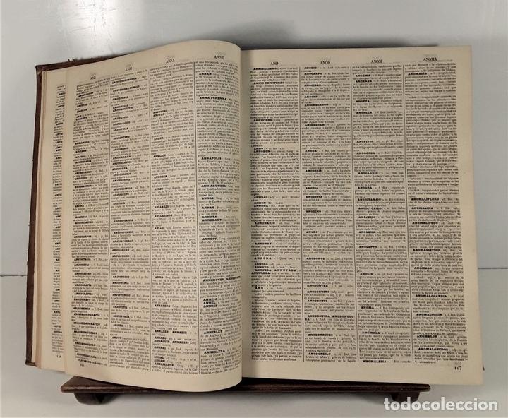 Diccionarios antiguos: DICCIONARIO ENCICLOPÉDICO DE LA LENGUA ESPAÑOLA. TOMO I. IMP. GASPAR Y ROIG. 1853. - Foto 5 - 172746078