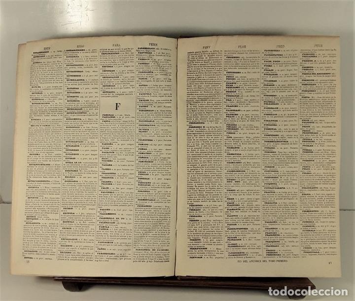 Diccionarios antiguos: DICCIONARIO ENCICLOPÉDICO DE LA LENGUA ESPAÑOLA. TOMO I. IMP. GASPAR Y ROIG. 1853. - Foto 7 - 172746078
