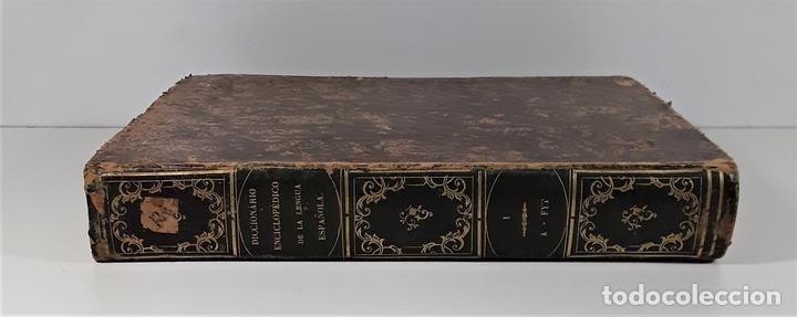 DICCIONARIO ENCICLOPÉDICO DE LA LENGUA ESPAÑOLA. TOMO I. IMP. GASPAR Y ROIG. 1853. (Libros Antiguos, Raros y Curiosos - Diccionarios)