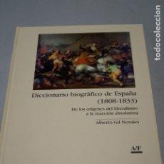 Libri antichi: DICCIONARIO BIOGRÁFICO DE ESPAÑA (1808-1833). ALBERTO GIL. Lote 175590957