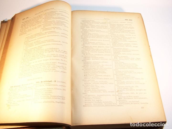 Diccionarios antiguos: Diccionario de ideas afines y elementos de tecnología. Sociedad de literatos. D. Eduardo Benot. 1900 - Foto 4 - 175722788