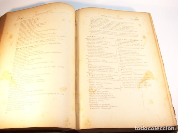 Diccionarios antiguos: Diccionario de ideas afines y elementos de tecnología. Sociedad de literatos. D. Eduardo Benot. 1900 - Foto 5 - 175722788