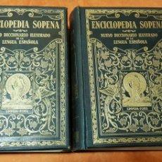 Diccionarios antiguos: ENCICLOPEDIA SOPENA DICCIONARIO ILUSTRADO LENGUA ESPAÑOLA 1.936. Lote 175881388