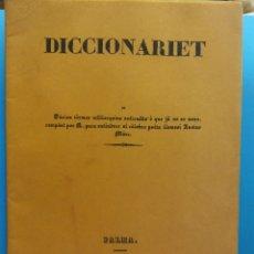 Libri antichi: DICCIONARIET. IMPRENTA Y LLIBRERIA DE ESTEVA TRIAS. AÑY 1840 PALMA. Lote 175978189