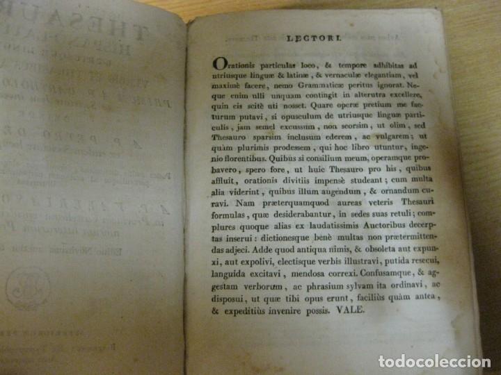 Diccionarios antiguos: thesaurus hispano latinus utriusque linguae . typografia sierra año 1817 v. requejo - Foto 7 - 176576102