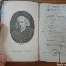 Diccionarios antiguos: JOHNSON DICTIONARY OF THE ENGLISH LANGUAGE, 1806, IN MINIATURE. Lote 176757268