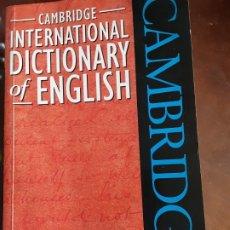 Livros antigos: DICCIONARIO DE INGLÉS INTERNACIONAL DE CAMBRIDGE. Lote 177051600