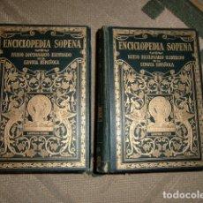 Diccionarios antiguos: ENCICLOPEDIA SOPENA - 2 TOMOS - DICCIONARIO ILUSTRADO LENGUA ESPAÑOLA - AÑO 1928 2ª EDICION. Lote 177072628