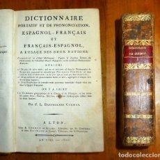 Diccionarios antiguos: BARTHELEMI CORMON, J.L. DICTIONNAIRE PORTATIF ET DE PRONUNCIATION : ESPAGNOL-FRANÇAIS ET FRANÇAIS-. Lote 177269558