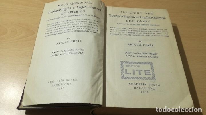Diccionarios antiguos: DICCIONARIO ESPAÑOL INGLES - ARTURO CUYAS - AGUSTIN BOSCH 1918 - Foto 4 - 177841848
