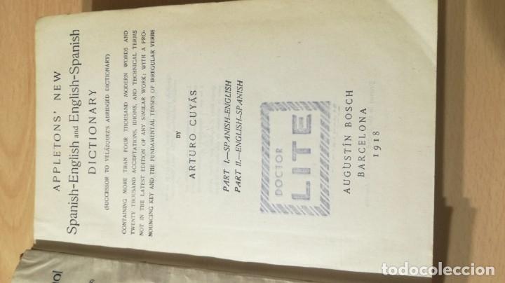 Diccionarios antiguos: DICCIONARIO ESPAÑOL INGLES - ARTURO CUYAS - AGUSTIN BOSCH 1918 - Foto 5 - 177841848