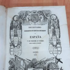 Livres anciens: DICCIONARIO GEOGRAFICO-ESTADISTICO-HISTORICO DE ESPAÑA. PASCUAL MADOZ. TOMO VI. 1847. W. RESERVADO. Lote 178176502