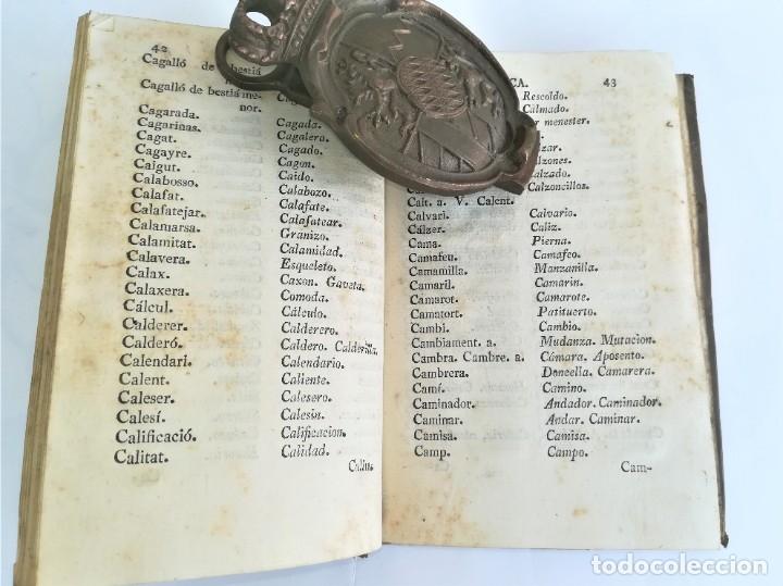 Diccionarios antiguos: ANTIGUO DICCIONARIO CATALAN-CASTELLANO,SIGLO XIX, AÑO 1806,EPOCA NAPOLEON BONAPARTE,BARCELONA - Foto 4 - 178595565