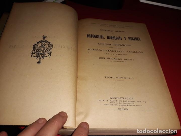 Diccionarios antiguos: Diccionario de Ortografia Homologia y Regimen de la Lengua Española M. Abellan Año 1911 - Foto 2 - 178688002