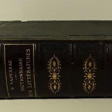 Diccionarios antiguos: DICTIONNAIRE UNIVERSEL DES LITTÉRATURES. G. VAPEREAU. LIBR. HACHETTE ET CIE. PARÍS. 1884.. Lote 179308711