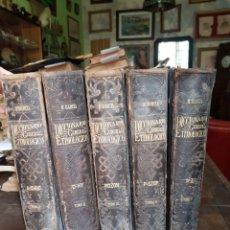 Diccionarios antiguos: DICCIONARIO GENERAL ETIMOLÓGICO. R. BARCÍA. 5 TOMOS.. Lote 180324703