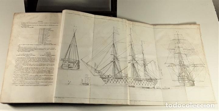 Diccionarios antiguos: DICTIONNAIRE DE MARINE A VOILES ET A VAPEUR. BARON DE BONNEFOUX ET PARIS. EDIT. A. BERTRAND. - Foto 7 - 180919336