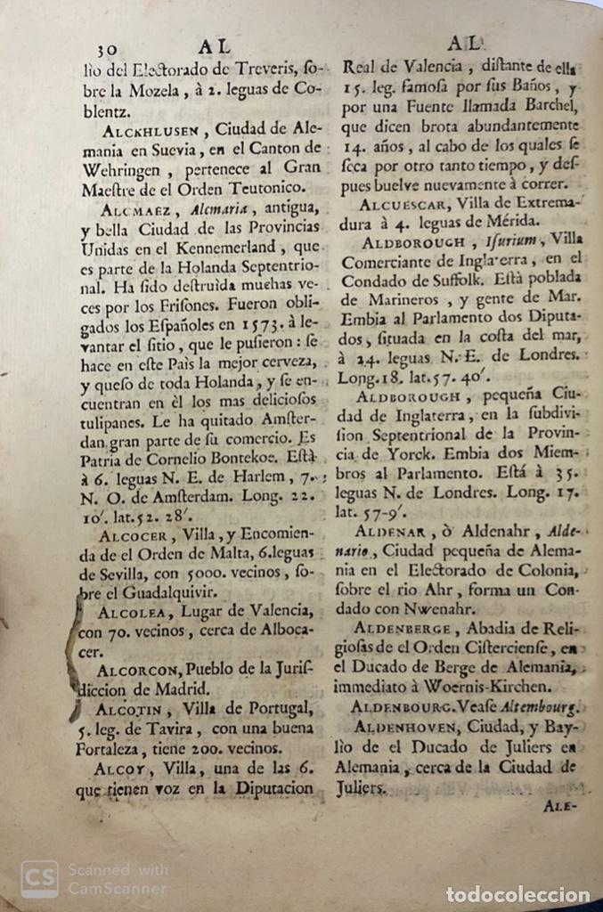Diccionarios antiguos: DICCIONARIO GEOGRAFICO. COMPLETO.2ª EDICION. 3 TOMOS EN UNO. POR JOACHIN IBARRA. MADRID, 1763. LEER - Foto 7 - 180919826