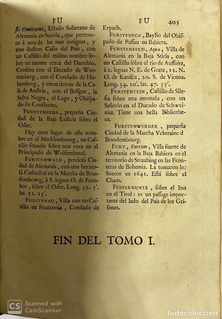 Diccionarios antiguos: DICCIONARIO GEOGRAFICO. COMPLETO.2ª EDICION. 3 TOMOS EN UNO. POR JOACHIN IBARRA. MADRID, 1763. LEER - Foto 8 - 180919826