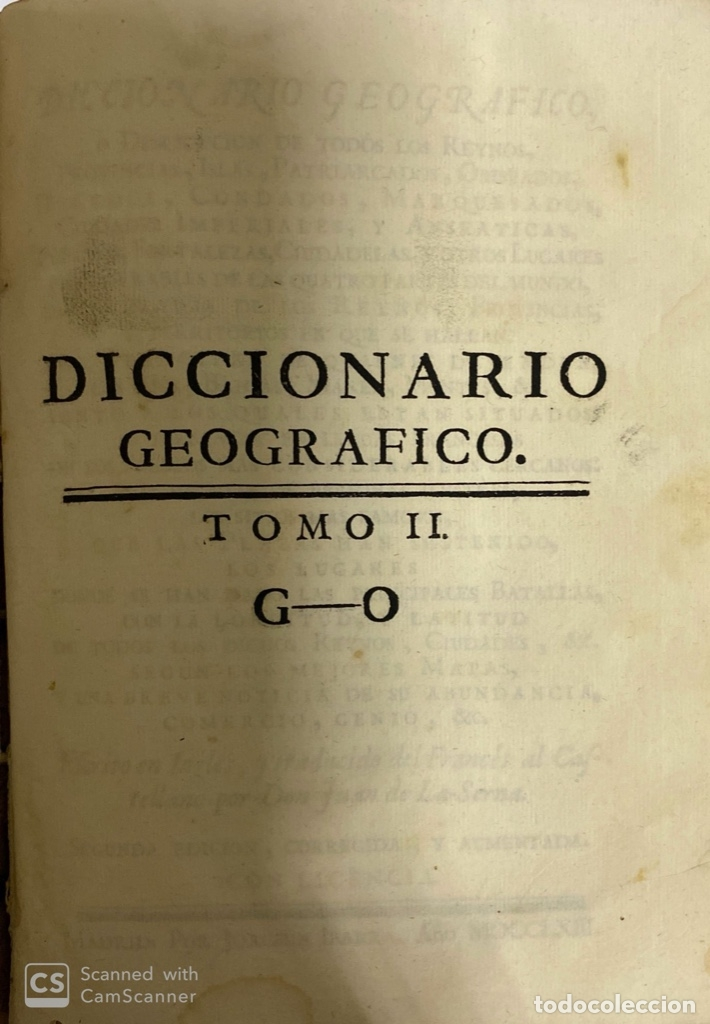 Diccionarios antiguos: DICCIONARIO GEOGRAFICO. COMPLETO.2ª EDICION. 3 TOMOS EN UNO. POR JOACHIN IBARRA. MADRID, 1763. LEER - Foto 9 - 180919826