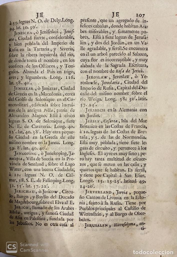 Diccionarios antiguos: DICCIONARIO GEOGRAFICO. COMPLETO.2ª EDICION. 3 TOMOS EN UNO. POR JOACHIN IBARRA. MADRID, 1763. LEER - Foto 12 - 180919826