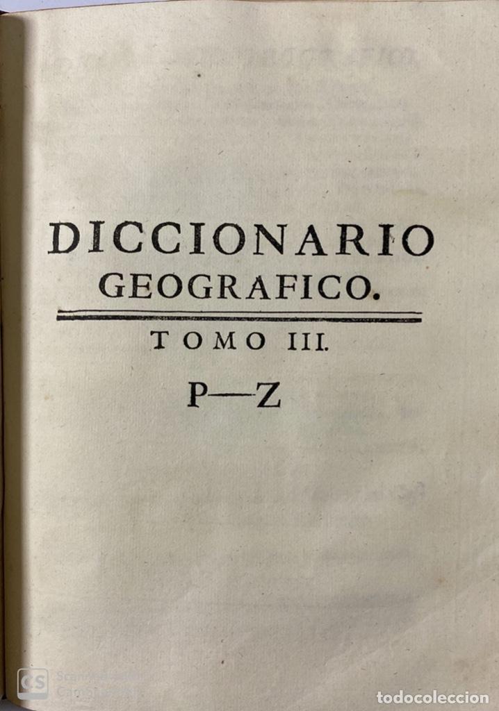 Diccionarios antiguos: DICCIONARIO GEOGRAFICO. COMPLETO.2ª EDICION. 3 TOMOS EN UNO. POR JOACHIN IBARRA. MADRID, 1763. LEER - Foto 15 - 180919826