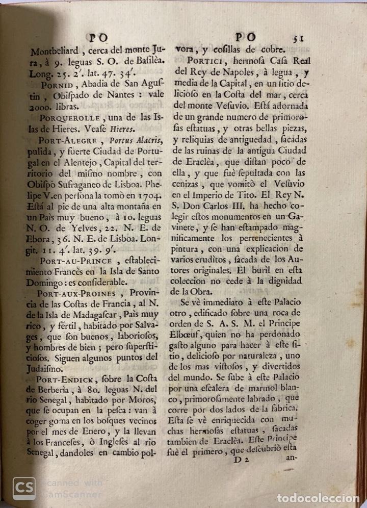 Diccionarios antiguos: DICCIONARIO GEOGRAFICO. COMPLETO.2ª EDICION. 3 TOMOS EN UNO. POR JOACHIN IBARRA. MADRID, 1763. LEER - Foto 17 - 180919826