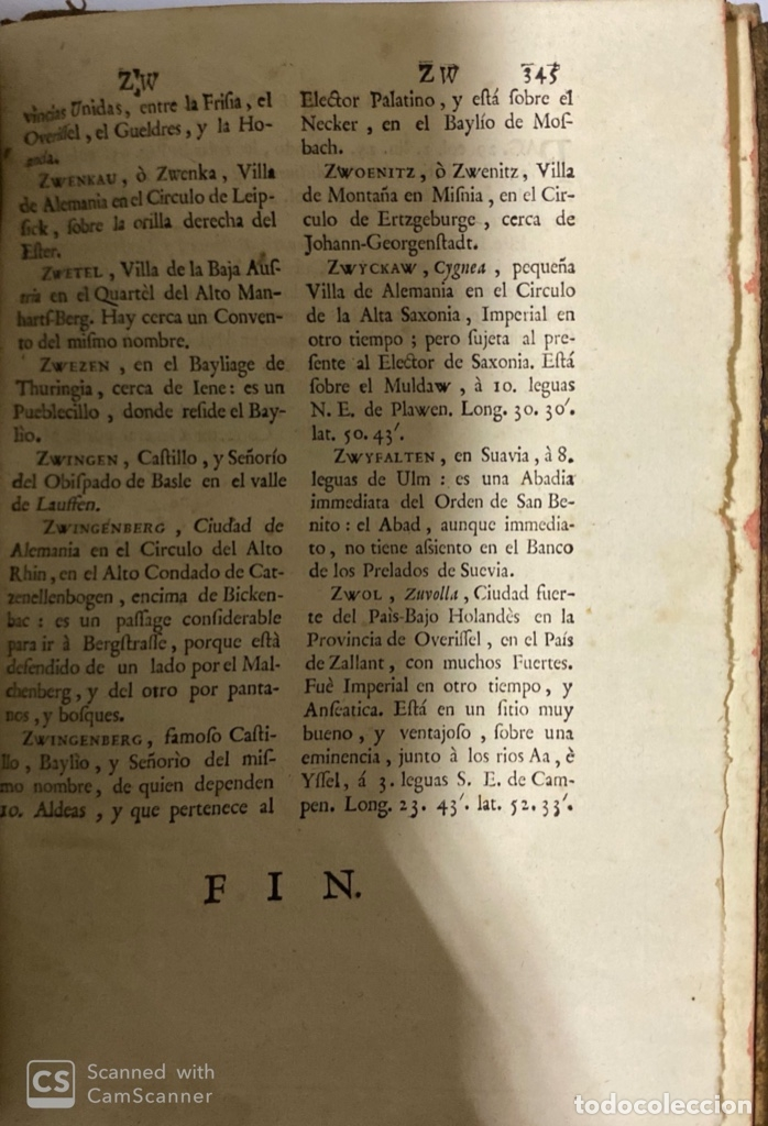 Diccionarios antiguos: DICCIONARIO GEOGRAFICO. COMPLETO.2ª EDICION. 3 TOMOS EN UNO. POR JOACHIN IBARRA. MADRID, 1763. LEER - Foto 19 - 180919826